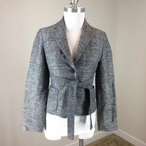 banana Republic S Blue Tweed Blazer jacket belt
